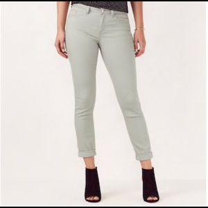LC Soft Mint Midrise Ankle Cuffed Skinny Jeans NWT